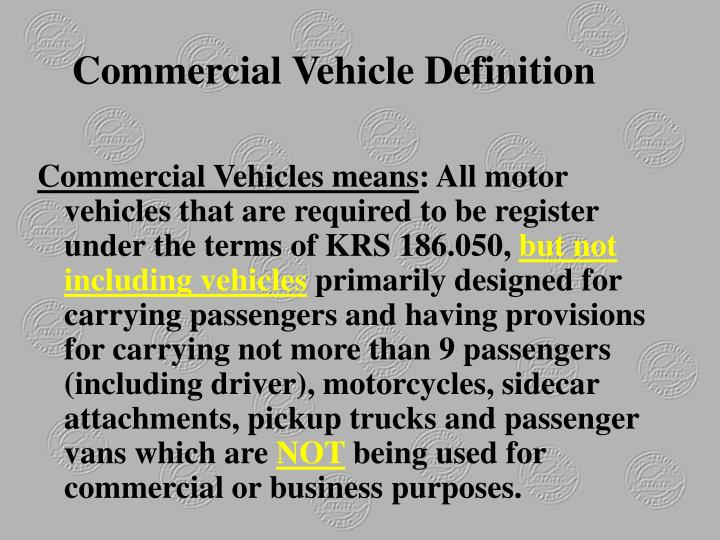 Commercial Vehicle Definition
