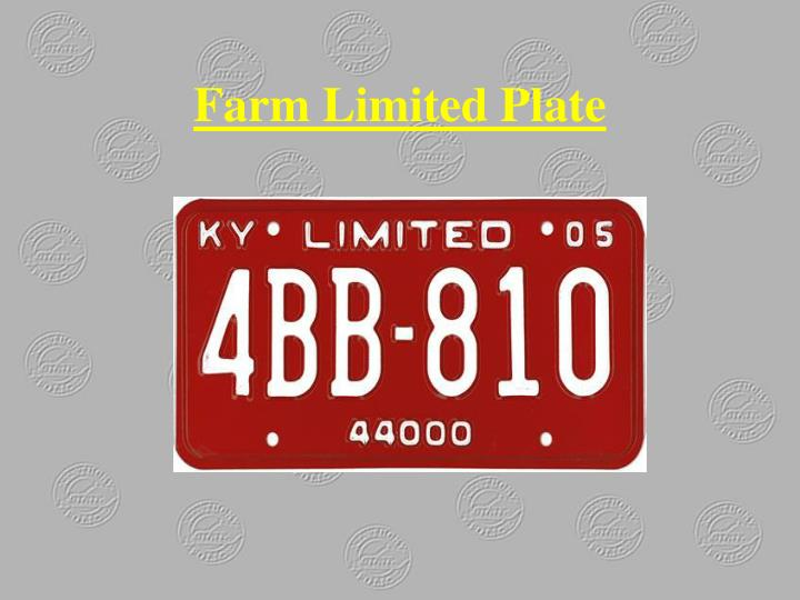 Farm Limited Plate
