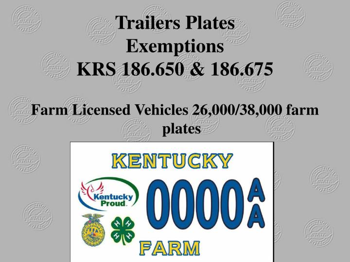 Trailers Plates