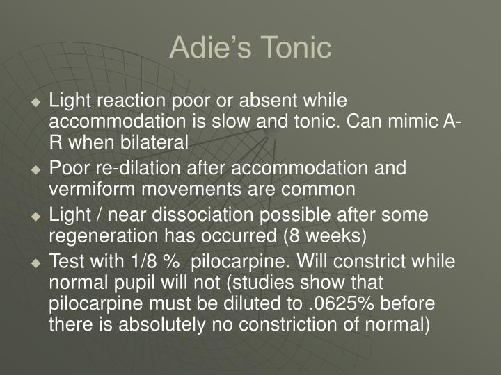 Adie's Tonic