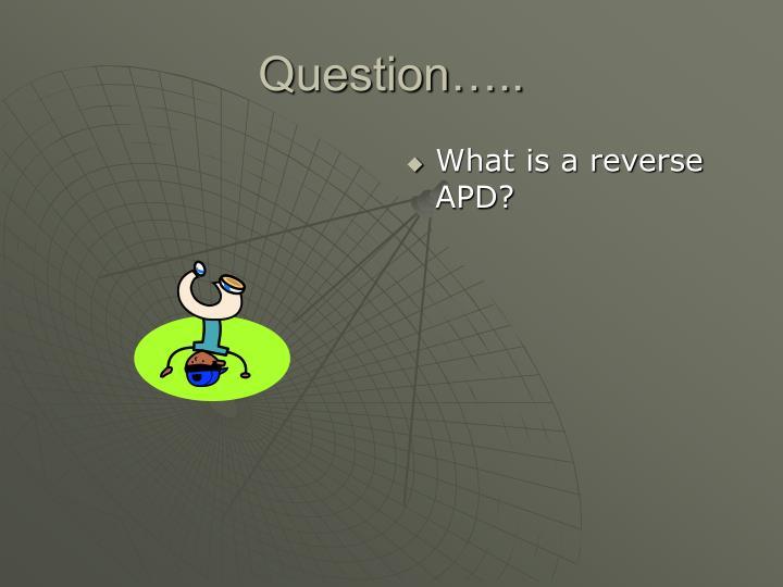 Question…..