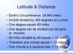 latitude distance