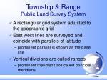 township range public land survey system