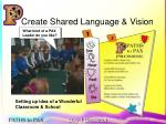 create shared language vision
