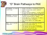 d brain pathways to pax