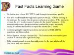 fast facts learning game