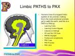 limbic paths to pax