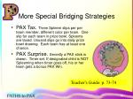 more special bridging strategies