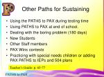 other paths for sustaining