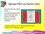 spread pax via home links