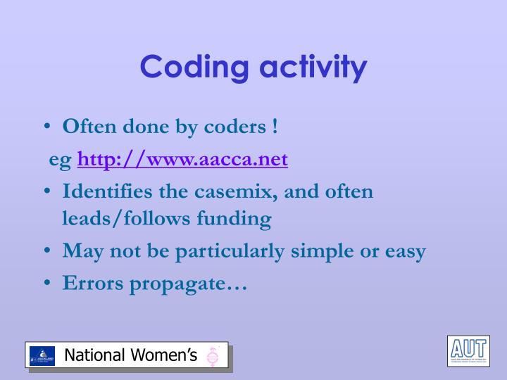 Coding activity