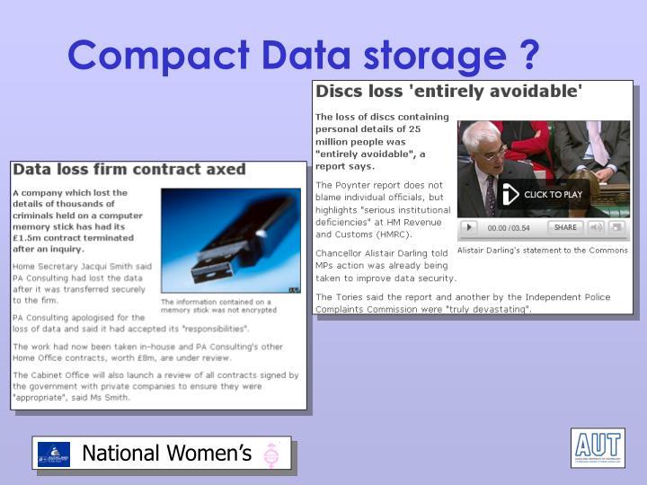 Compact Data storage ?