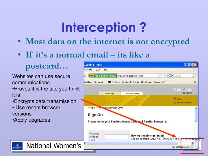 Interception ?