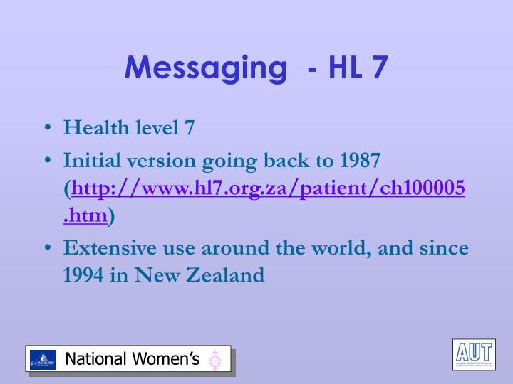 Messaging  - HL 7