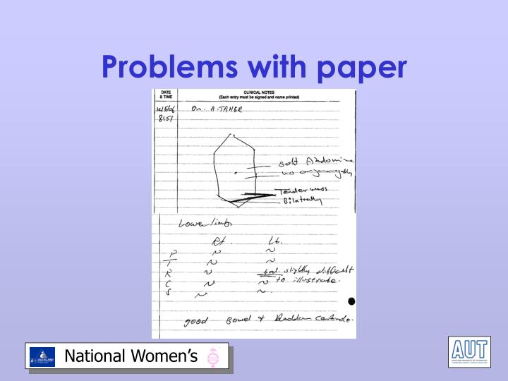 Problems with paper