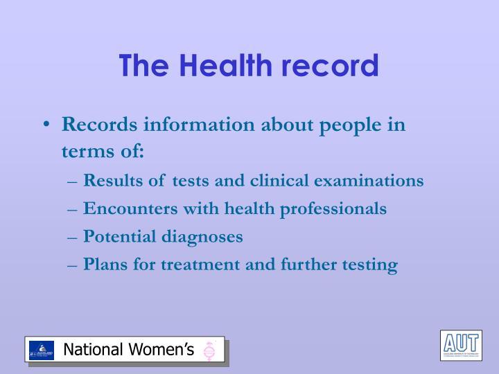 The Health record