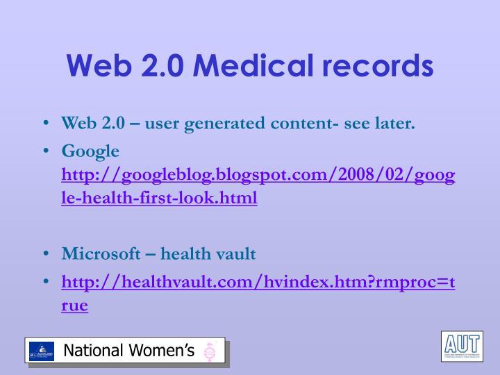 Web 2.0 Medical records