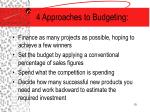 4 approaches to budgeting
