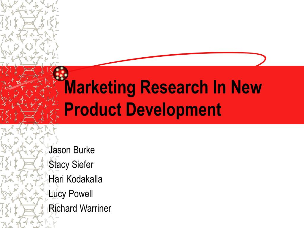 marketing research in new product development l.