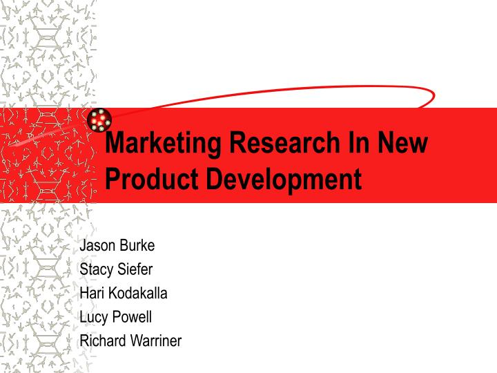marketing research in new product development n.