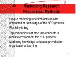 marketing research processes methods