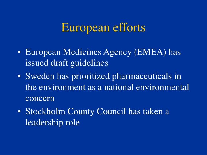 European efforts