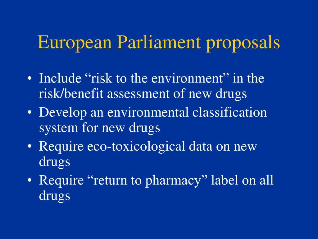 European Parliament proposals