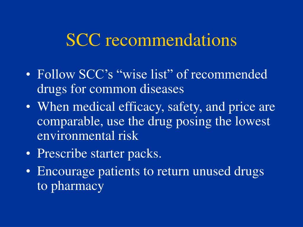 SCC recommendations