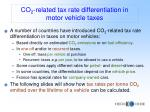 co 2 related tax rate differentiation in motor vehicle taxes