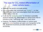 the case for co 2 related differentiation of motor vehicle taxes ii