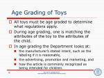 age grading of toys