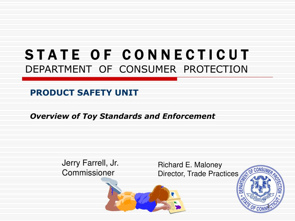 s t a t e o f c o n n e c t i c u t department of consumer protection l.