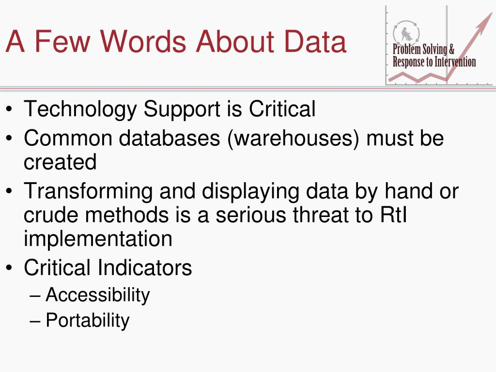 A Few Words About Data
