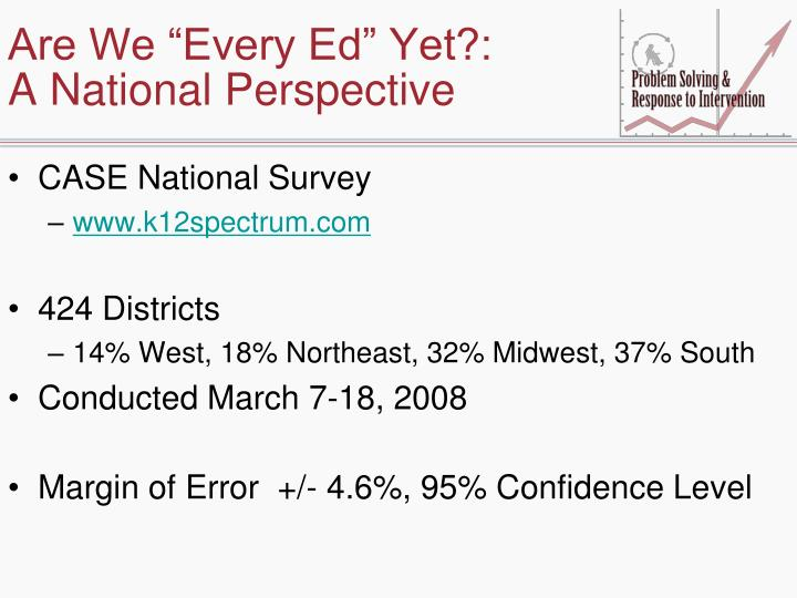 Are we every ed yet a national perspective