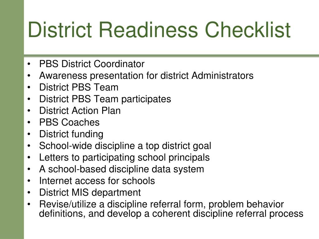 PBS District Coordinator
