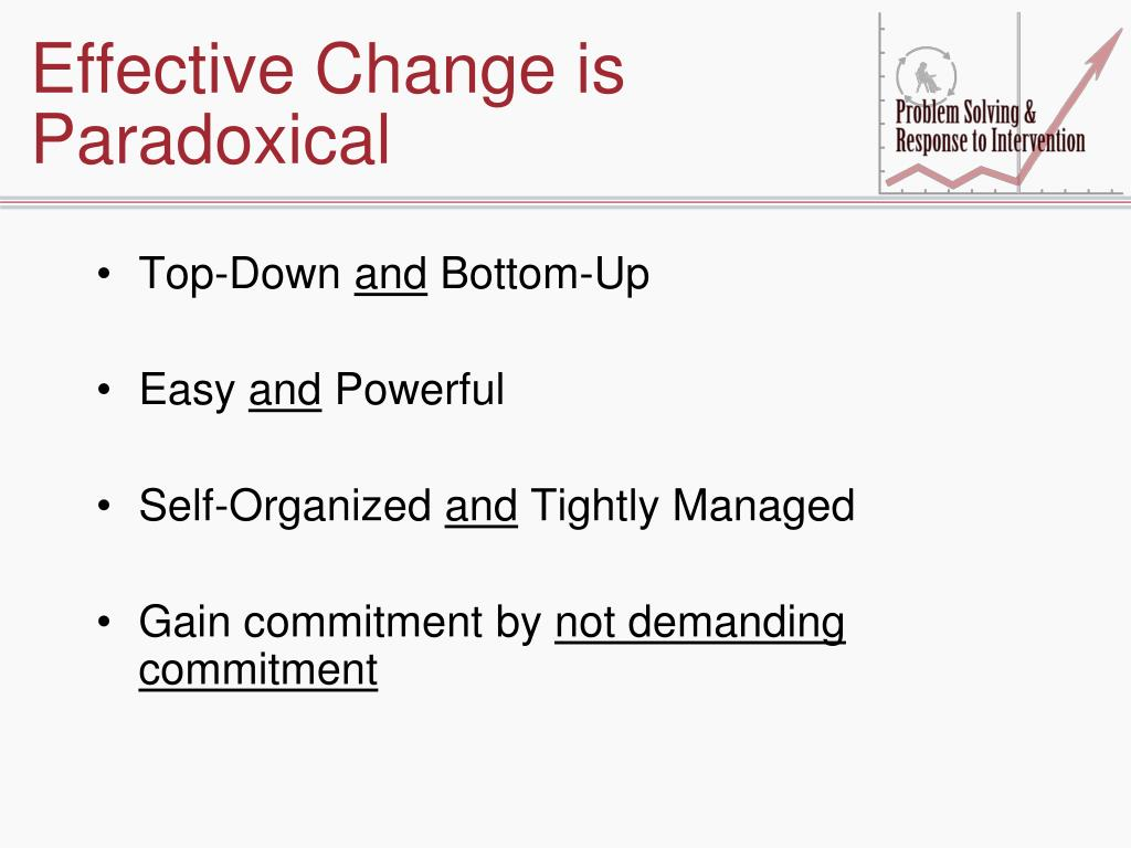 Effective Change is Paradoxical