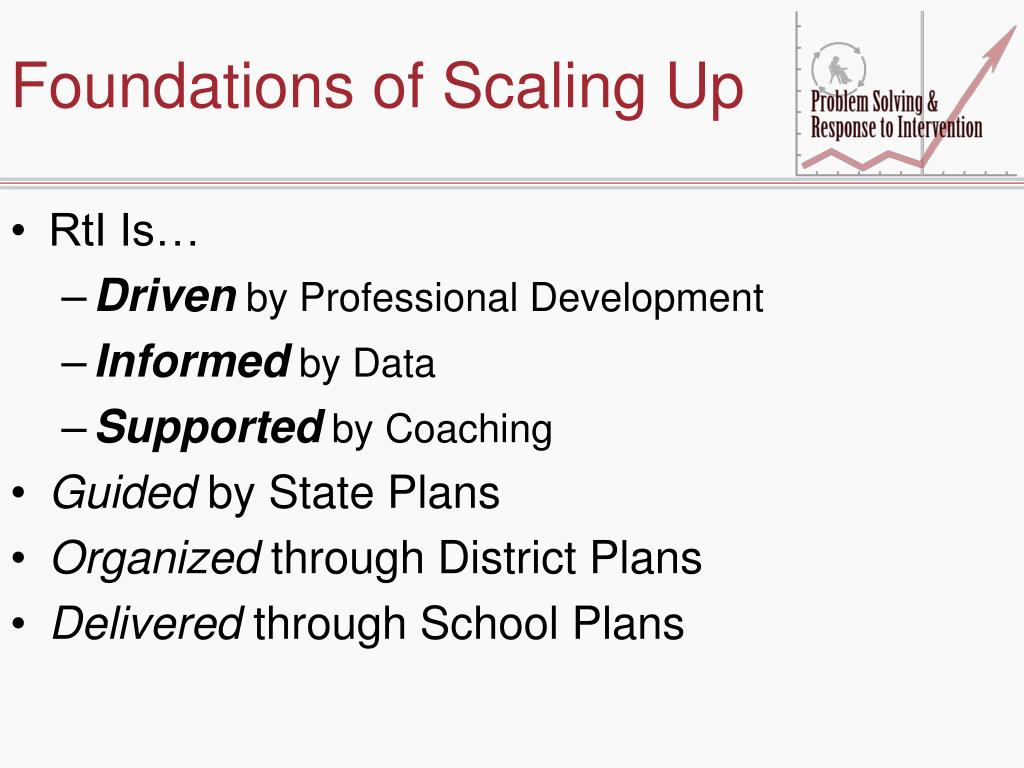 Foundations of Scaling Up