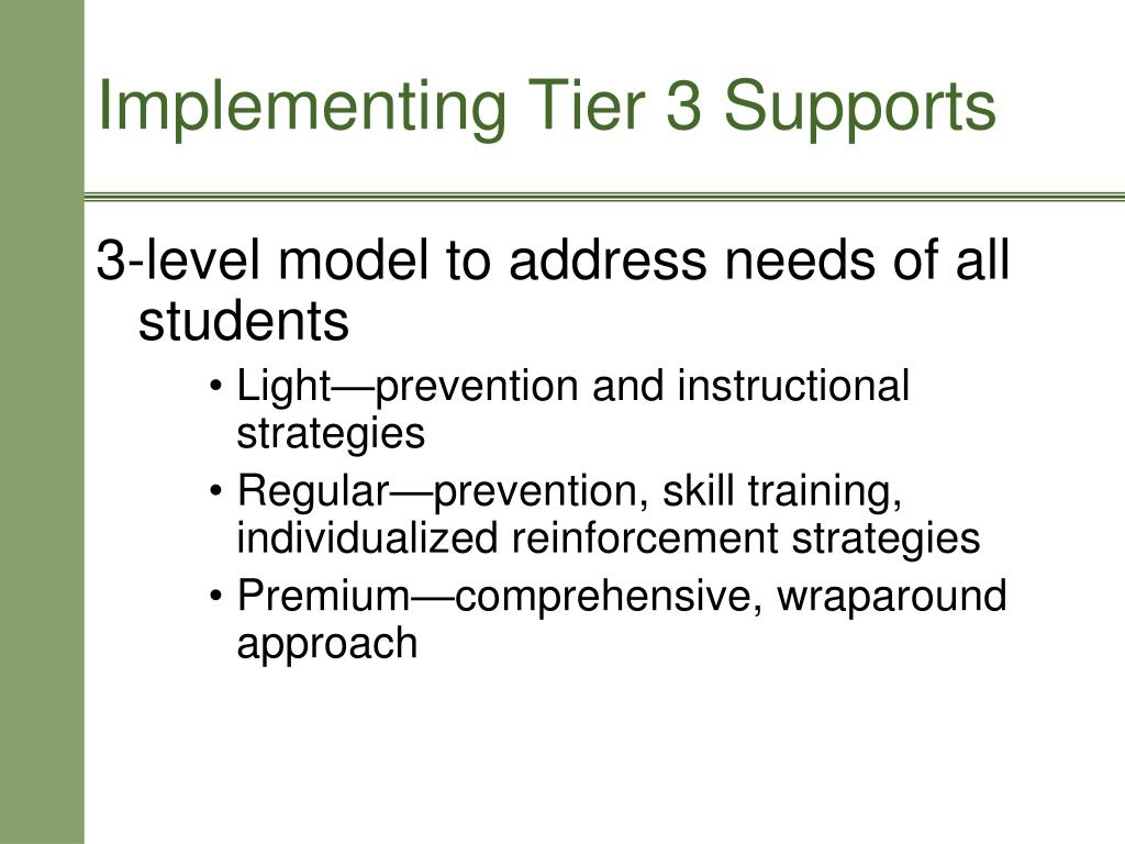 3-level model to address needs of all students