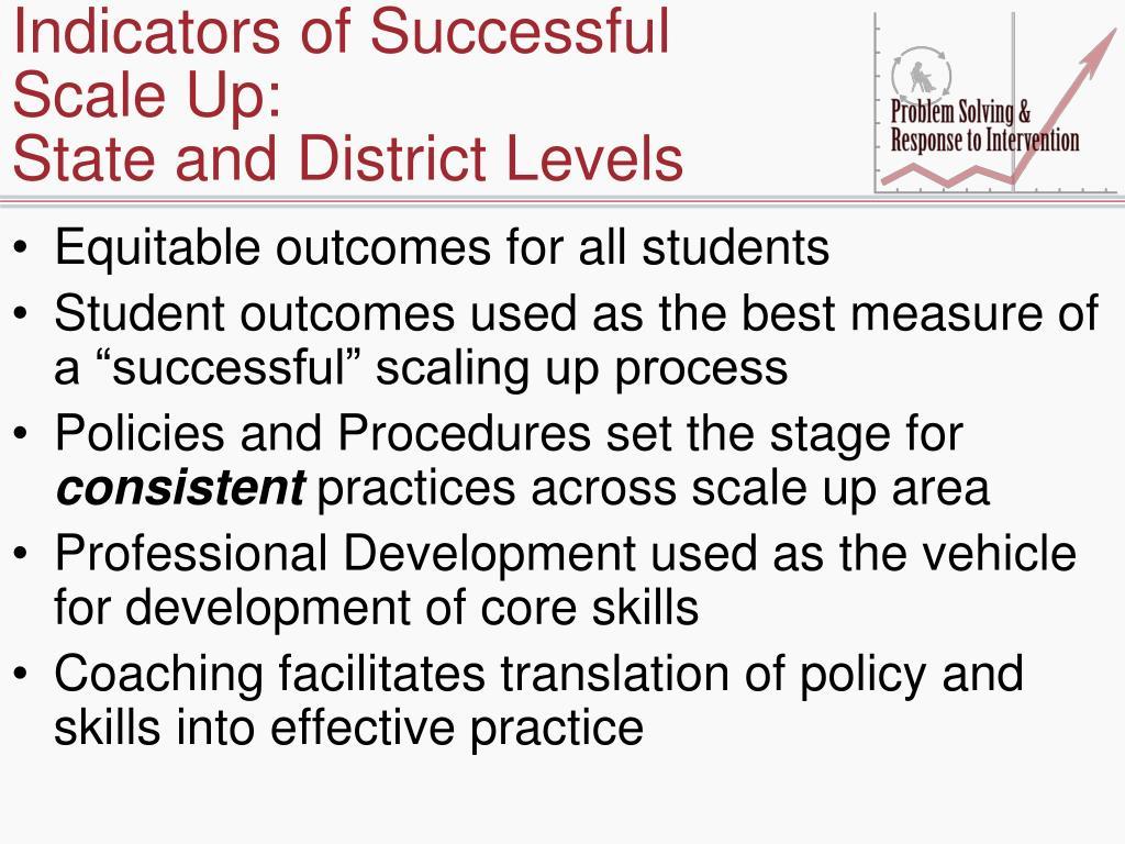 Indicators of Successful