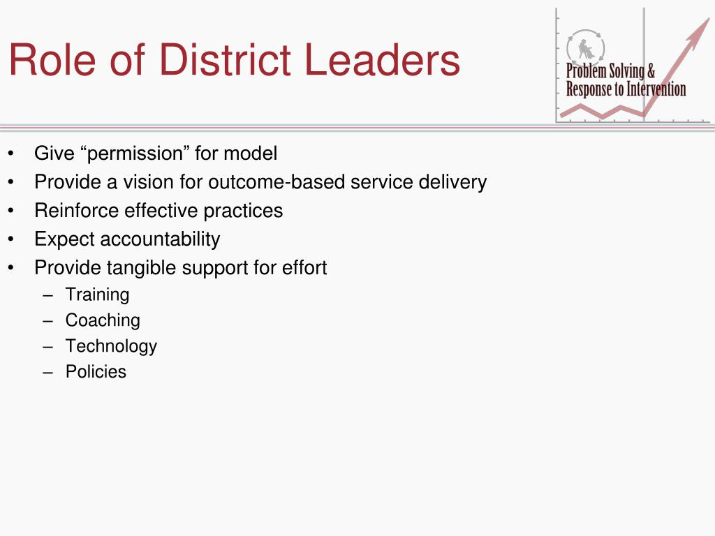Role of District Leaders