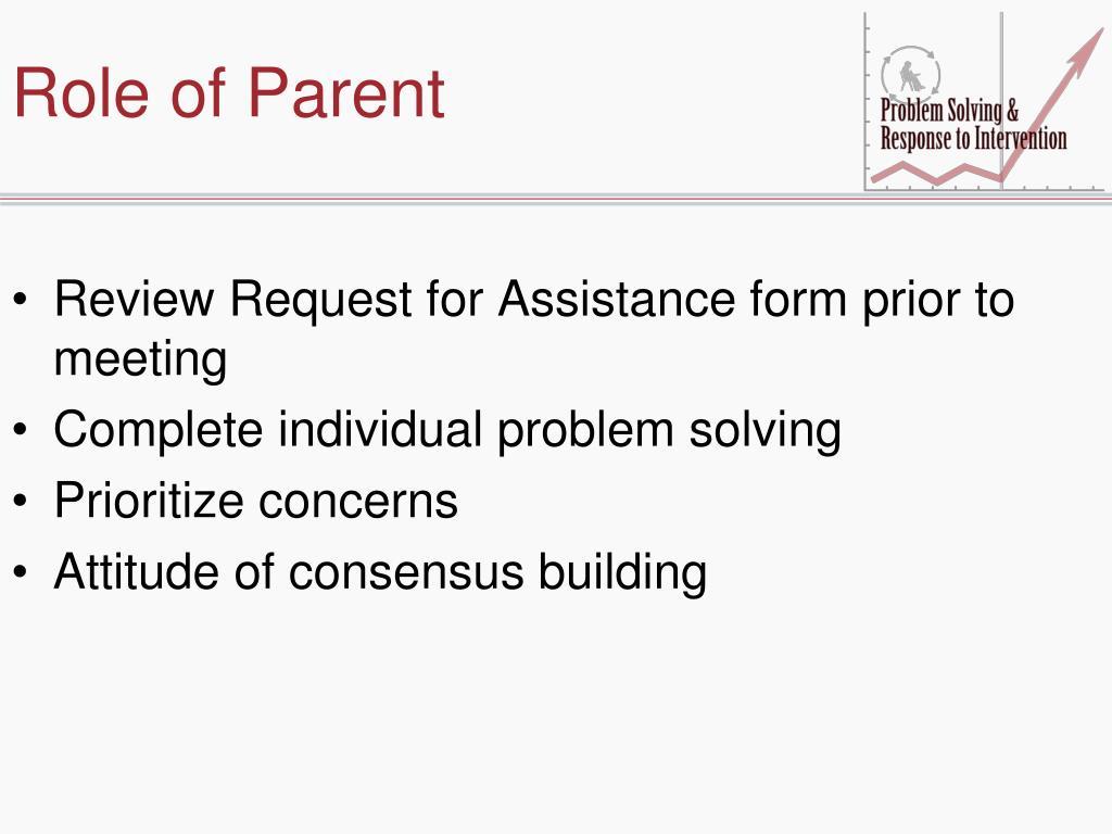 Role of Parent