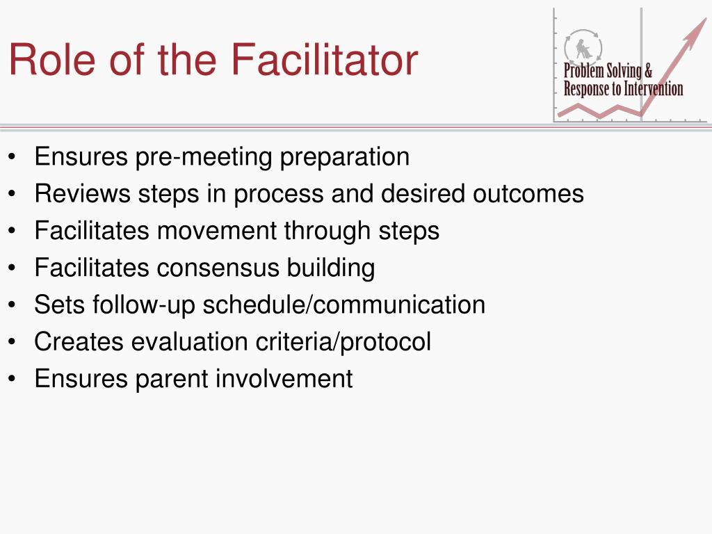 Role of the Facilitator