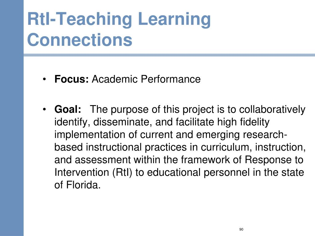 RtI-Teaching Learning Connections
