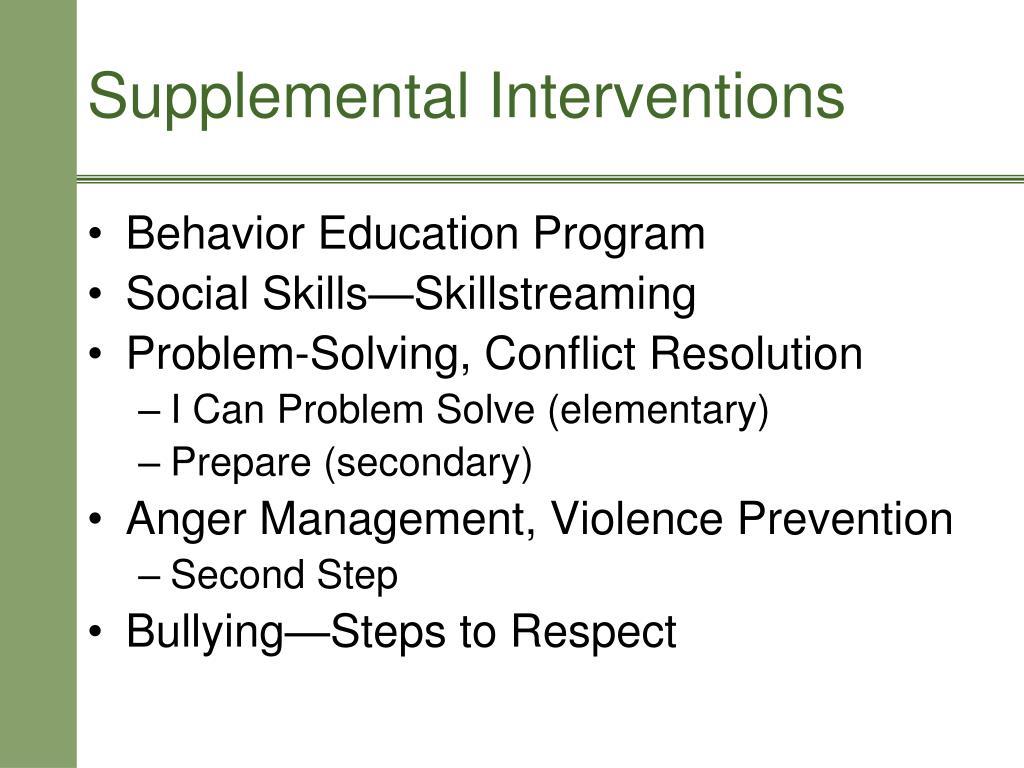 Behavior Education Program
