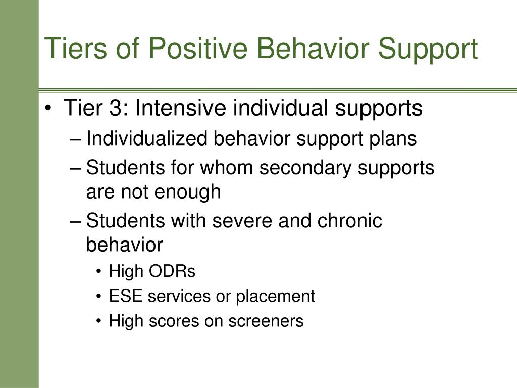Tier 3: Intensive individual supports
