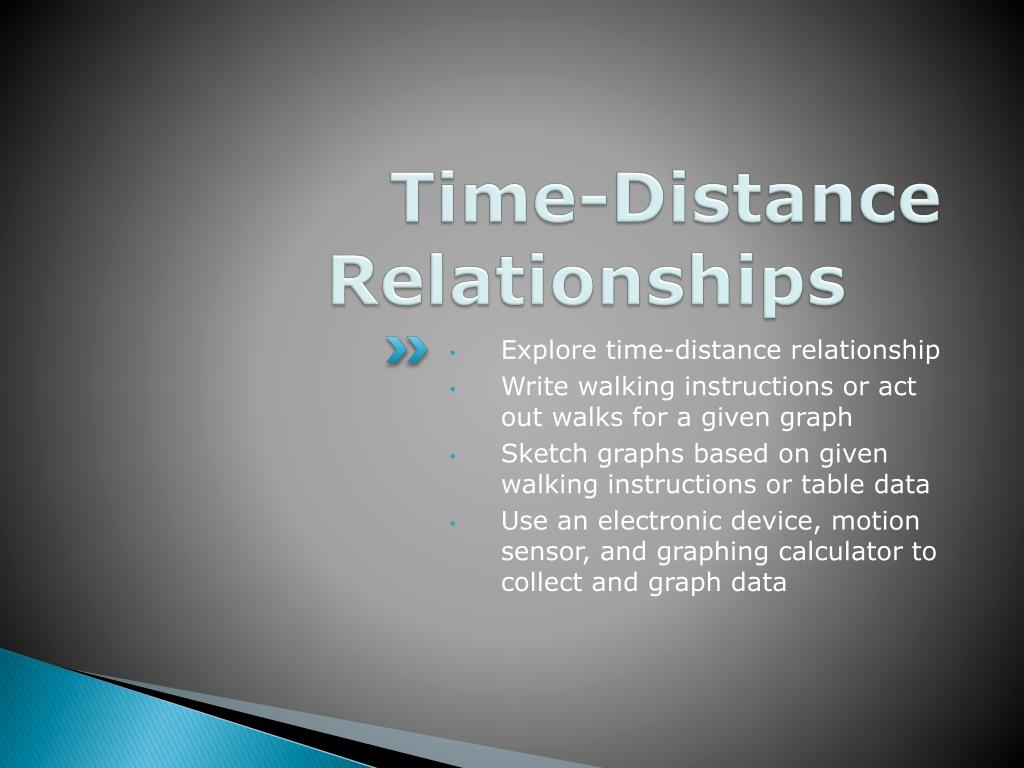 Time-Distance Relationships