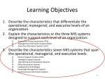 learning objectives33