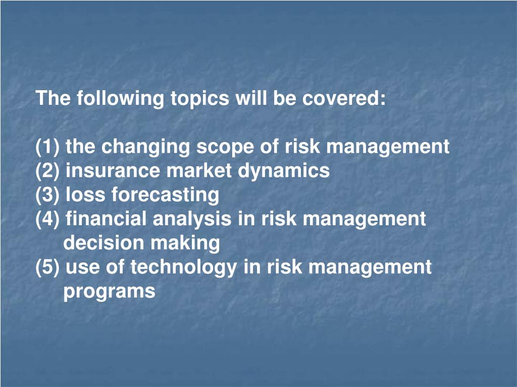 The following topics will be covered: