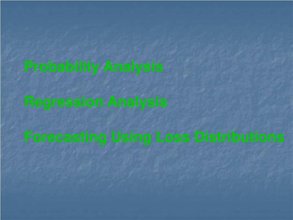 Probability Analysis