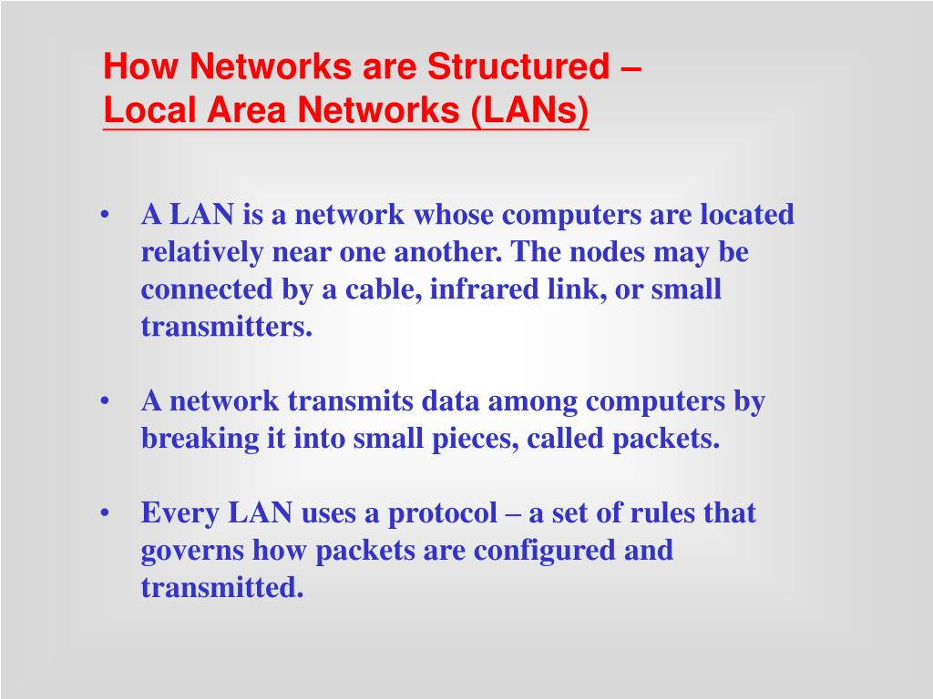How Networks are Structured –